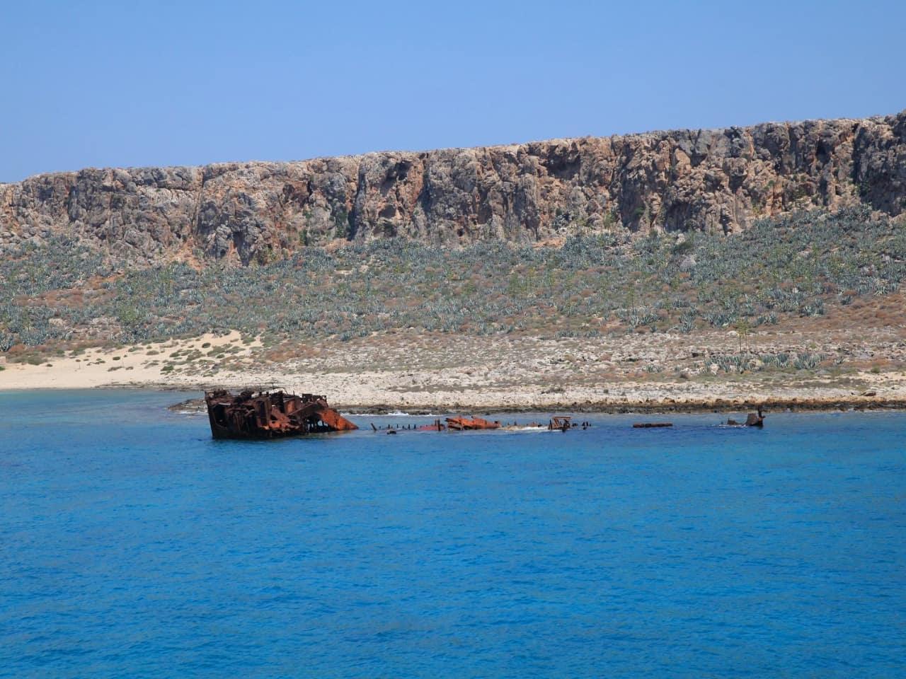 shipwreck gramvousa chania crete, activities chania crete