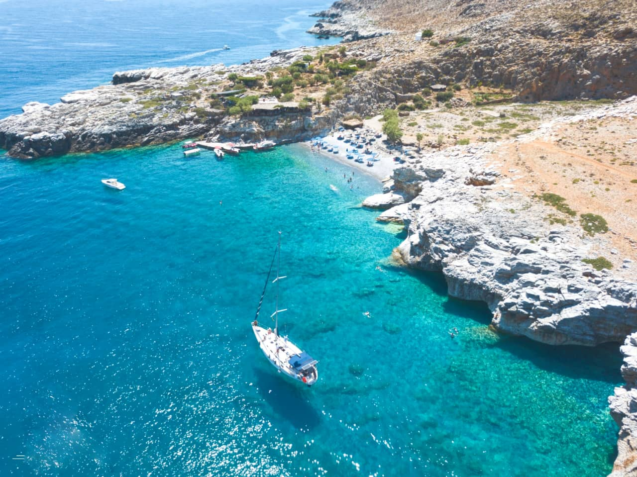 Daily Sailing Cruise On The Top Coasts of South Chania Crete