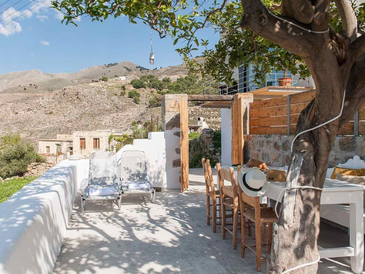 Notos Well Studio-House Sfakia Village a Mix of Modern & Traditional Elements