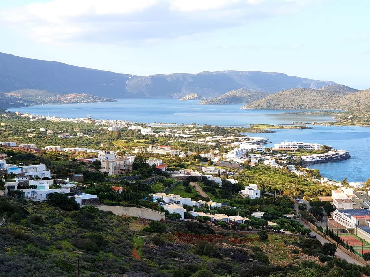 Panoramic View Of Mirabelo Bay & Spinalonga