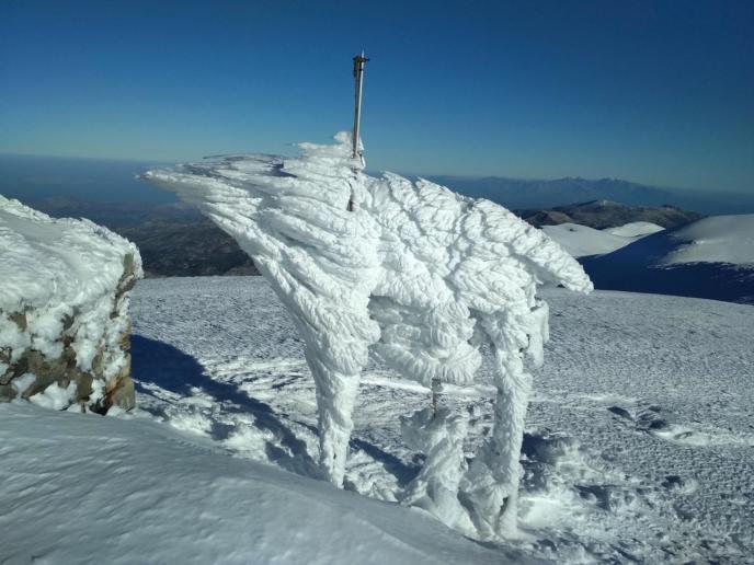 Winter In Crete - Snowy Psiloritis Mount