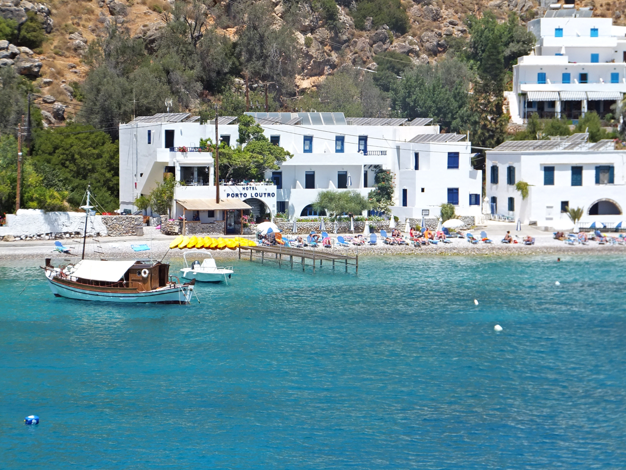 Hotel Porto Loutro - Special Rates For Walkers & Flower Lovers in April 2017