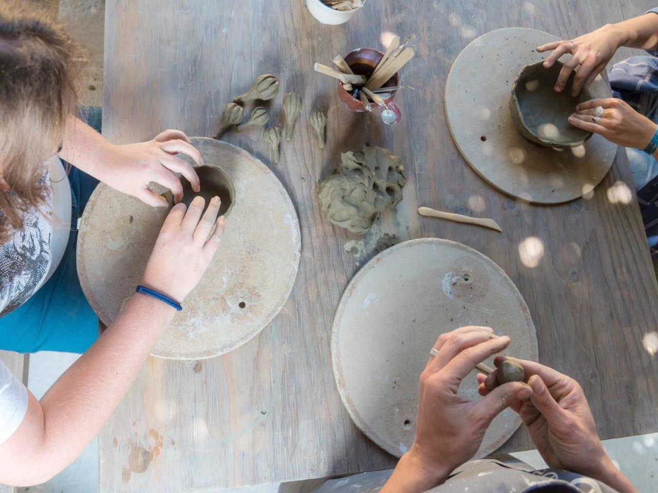 Ceramic Workshops In Pottery Village Of Margarites Crete