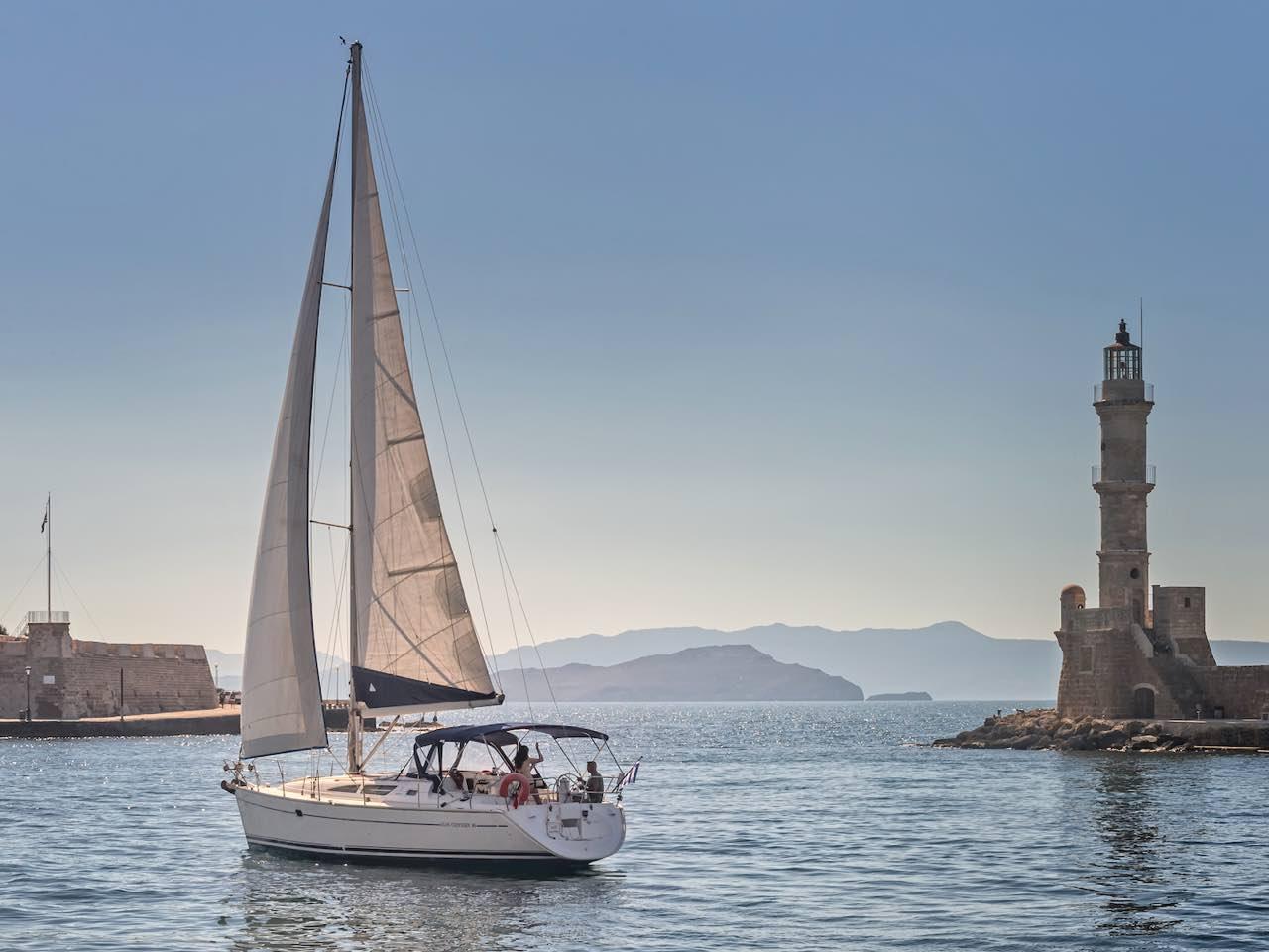 Sea Breezes, A Dramatic Shoreline, Secret Beaches - Sailing Trip Chania Crete