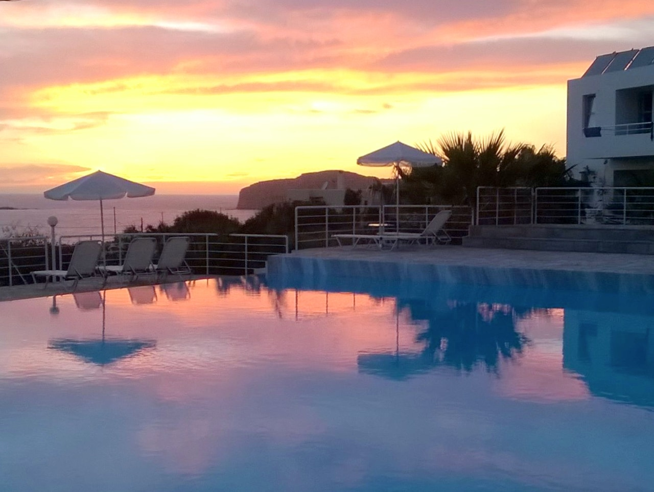 Dramatic Sunset At Our Plakures Hotel - Falasarna Beach