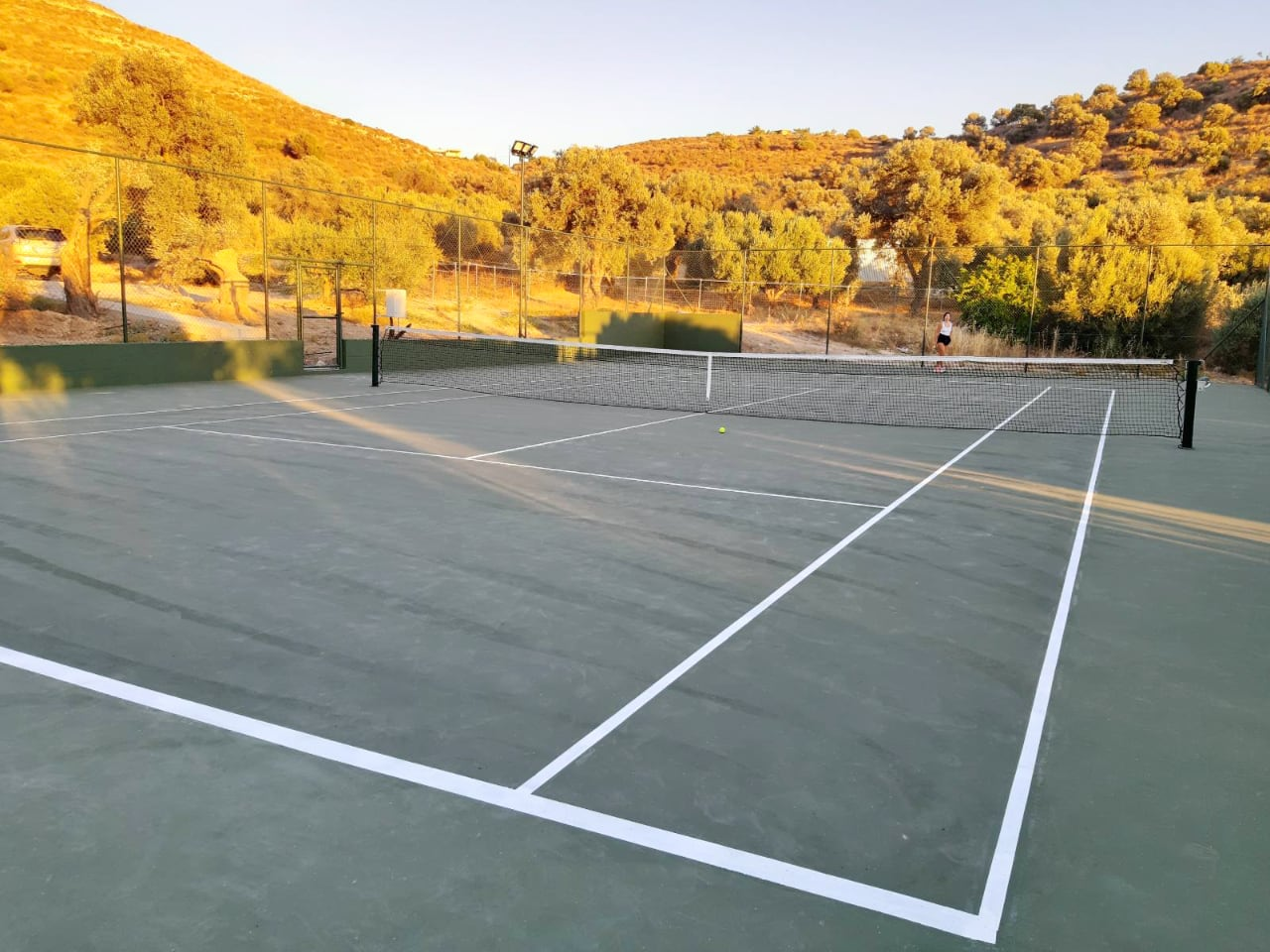 New Tennis Court At Our Cretan Traditional Villas