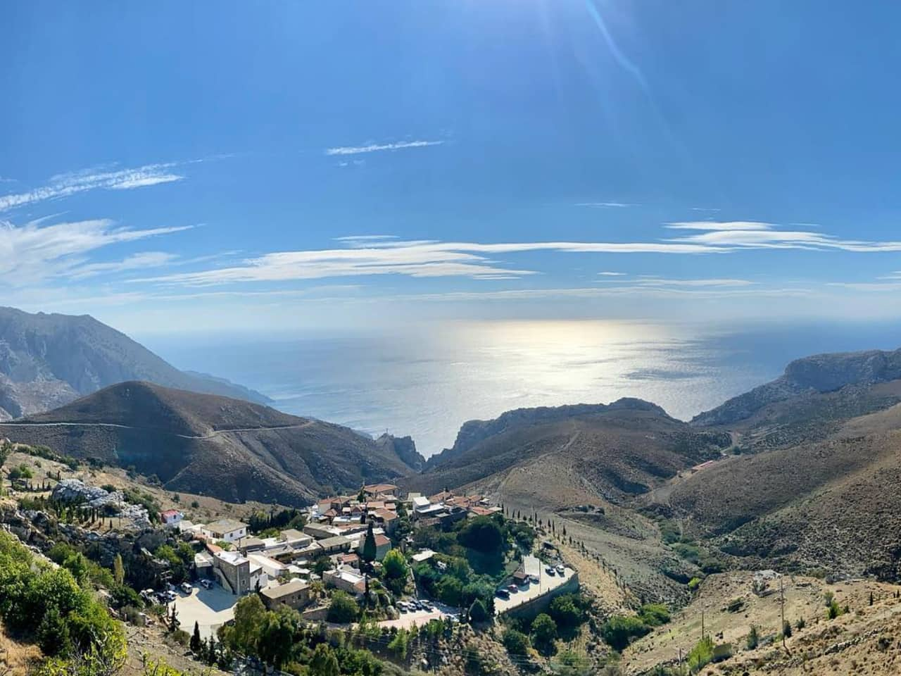 Panoramic Photo Of Thalori Traditional Village - Crete