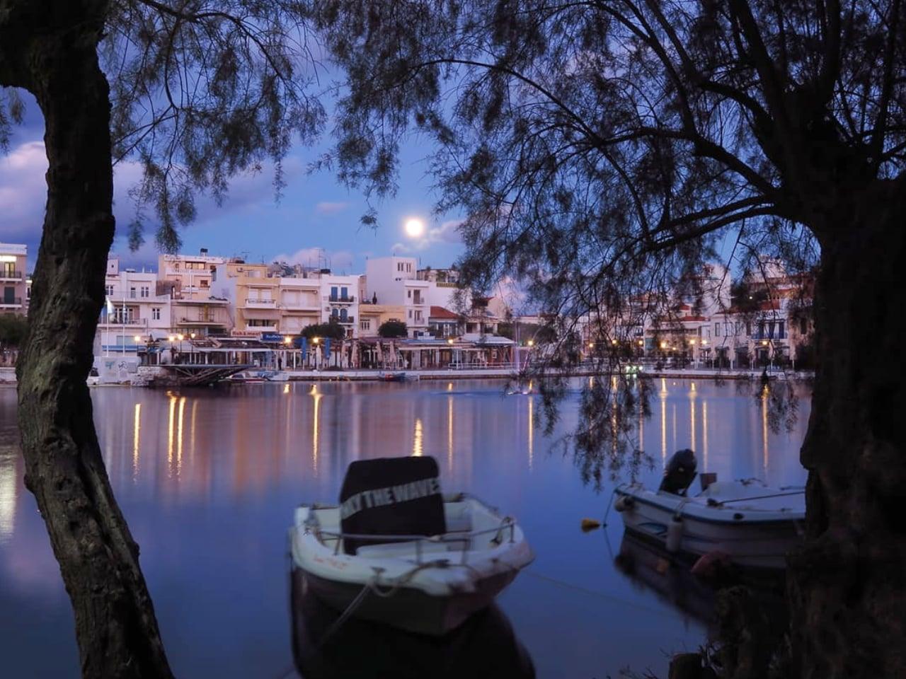 Last Night's Fuel Moon in Agios Nikolaos