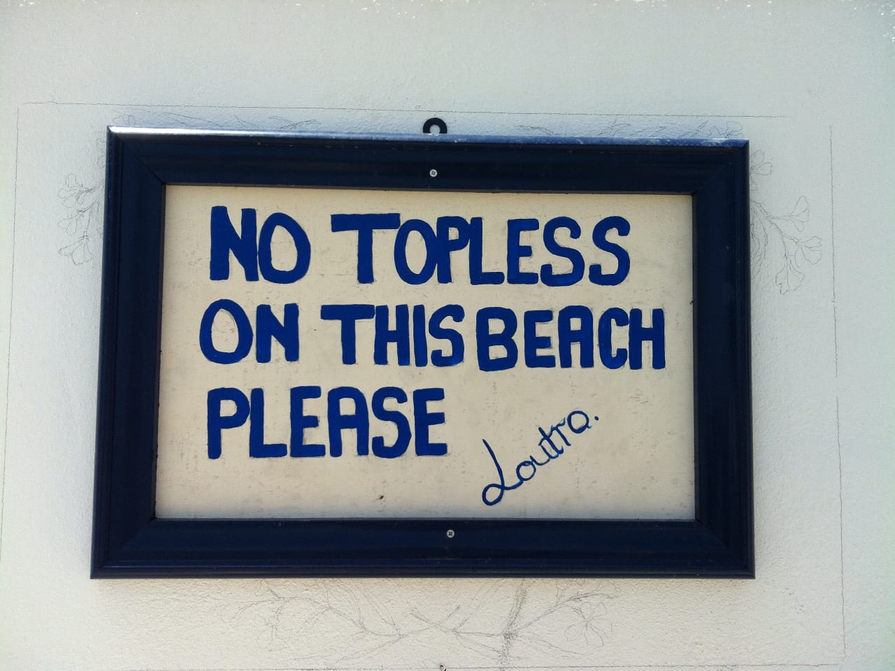 No Topless on this Beach Please