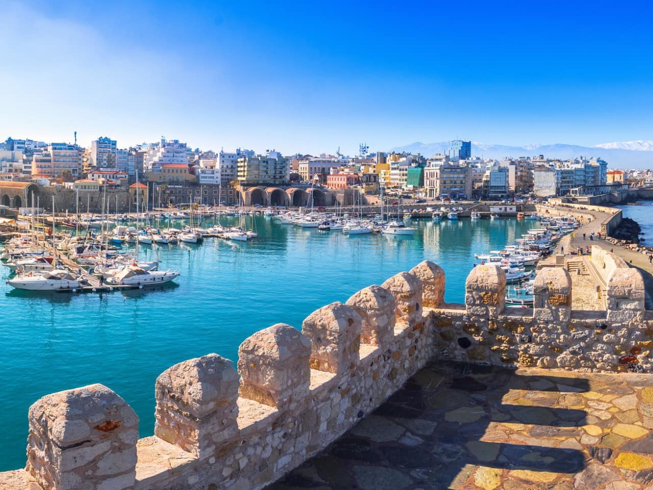 koules fortress heraklion crete, meet the minotaur, Palace of Knossos and the Archaeological Museum of Heraklion, historical tour knossos, historical tour heraklion crete, chania excursion tour to knossos and archaeological museum heraklion