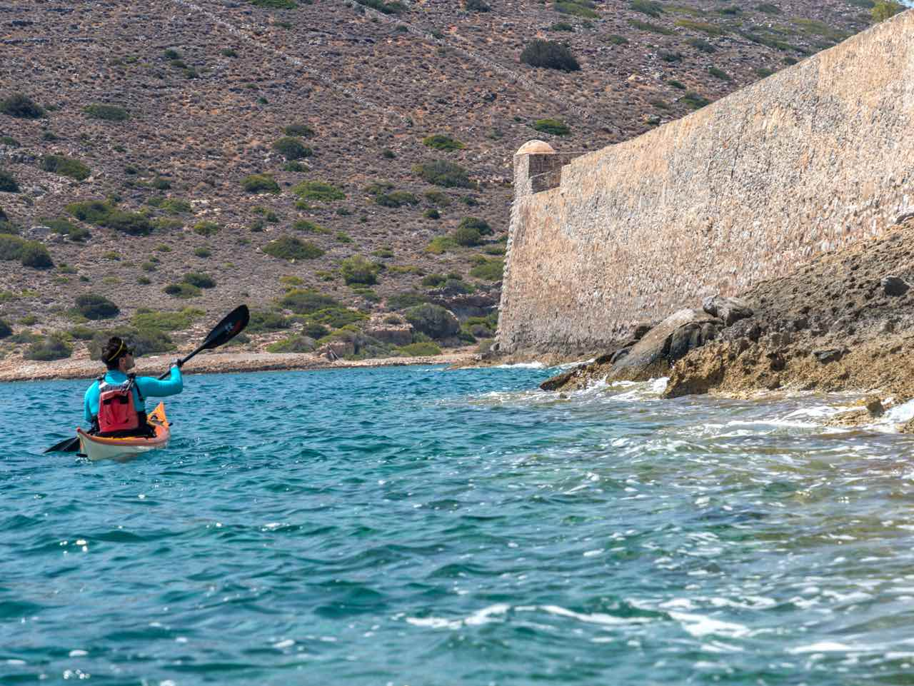 sea kayak trip elounda spinalonga, east crete sea kayak daily trips, best sea kayak elounda spinalonga, activities crete lasithi, activities elounda spinalonga