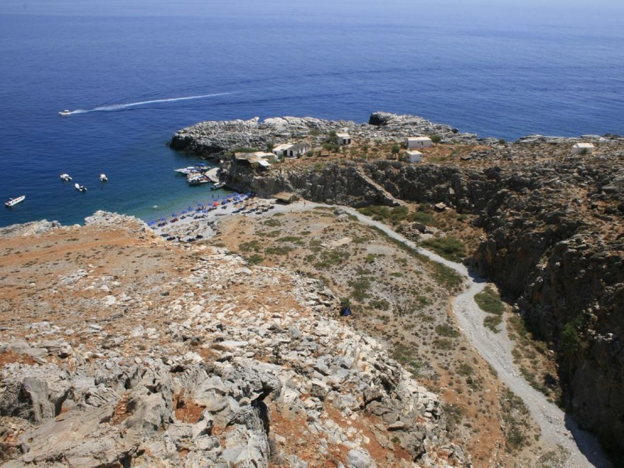 marmara beach hiking tour southwest crete