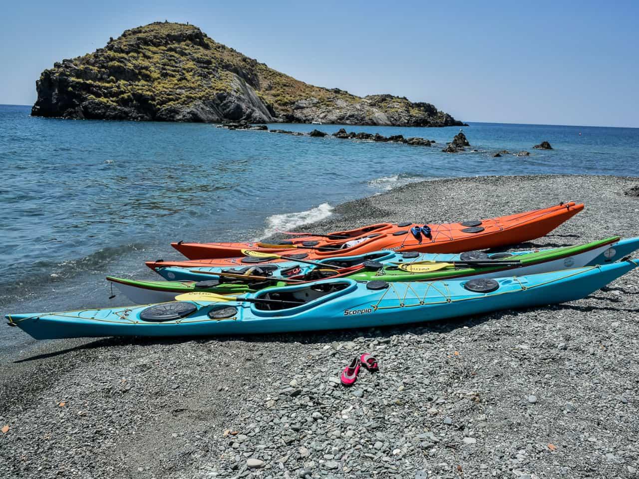 Sea Kayak Kaloi Limenes Lentas, best day trip sea kayak, sea kayak kali limenes matala agia galini, best sea kayak trip crete