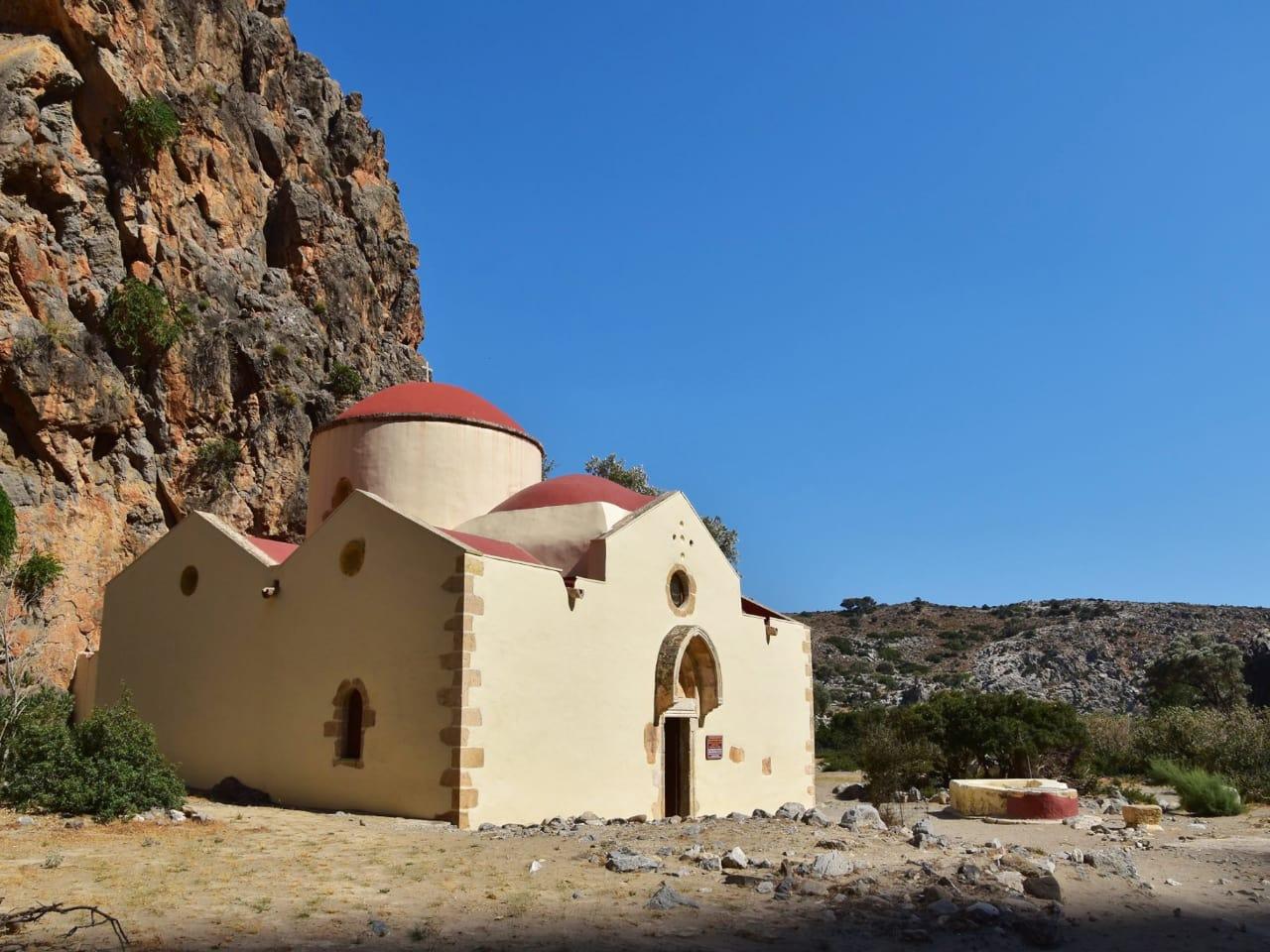 church of St. Anthony, the patron saint of hermits agiofarango beach