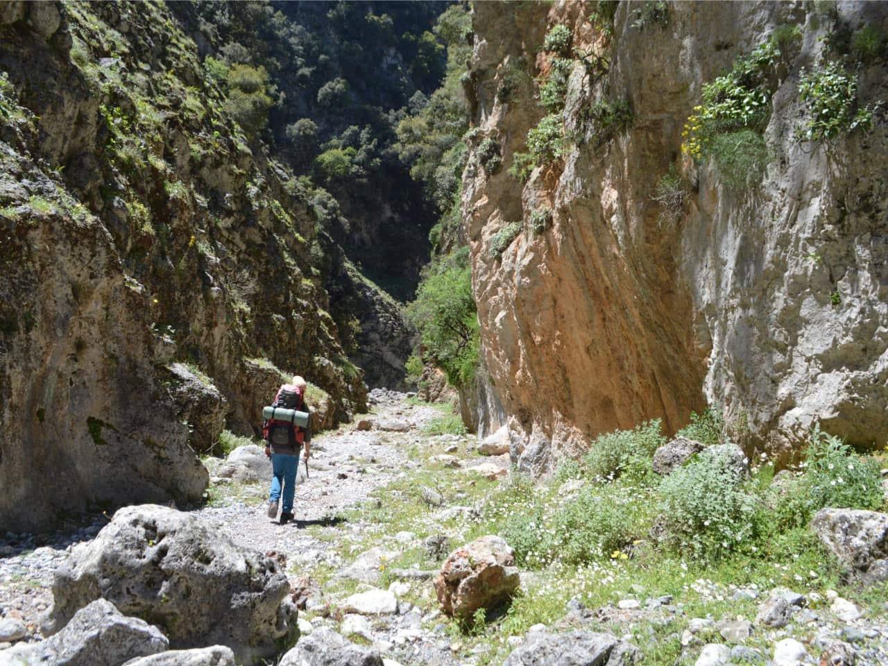 hiking imbros gorge chania crete