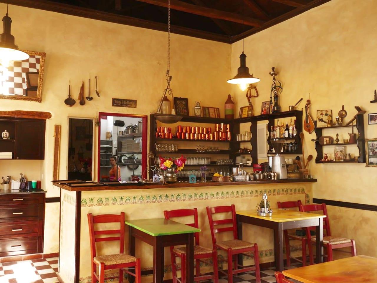 The interior of Old School at Anidri Village, Paleo scolio anidri village, old school anidri village paleochora, eatery restaurant paleo scolio
