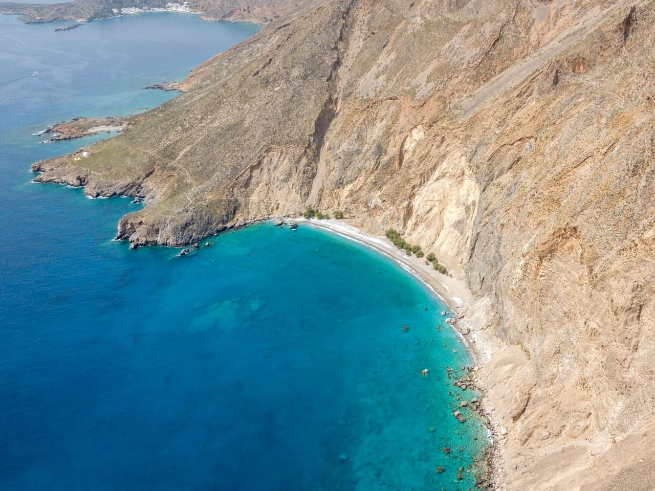 sweetwater beach panoramic view, boat trip south chania crete
