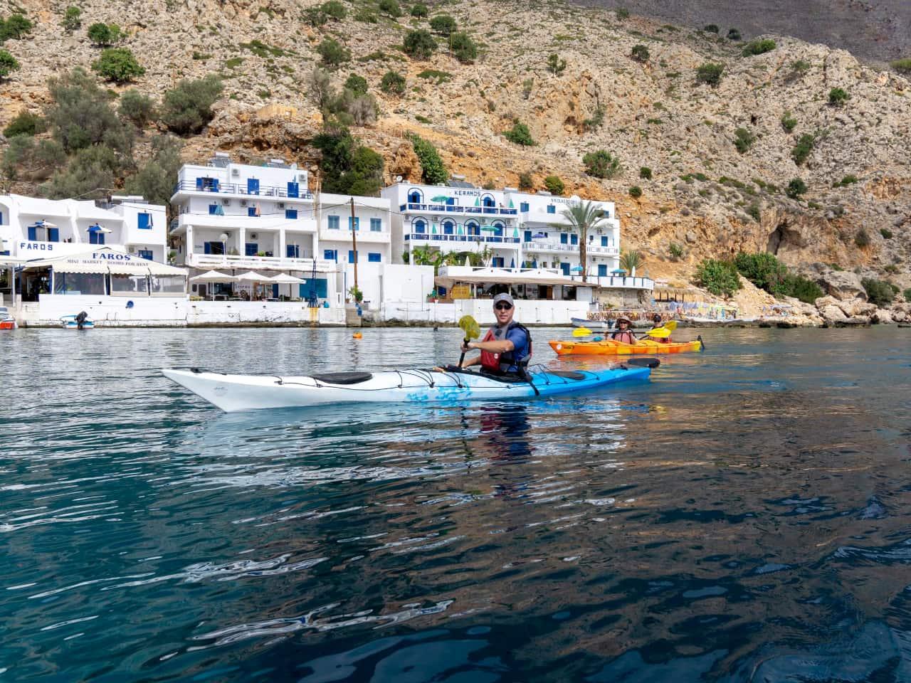 sea kayak trip sfakia loutro, sea kayak trip starting illingas beach, ilingas beach sea kayak trip, best sea kayak trip south crete, sea kayak expeditions chania crete, best sea kayaking trip chania crete