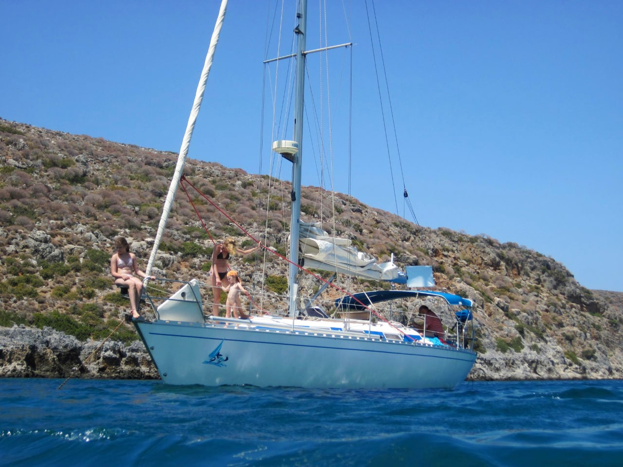 Daily Sailing Trip In Chania Crete, Daily Sailing Cruise Chania Crete, best sailing trip chania Crete, best activity chania crete, most friendly sipper chania crete, notos sailing chania crete, nikos skipper notos sailing chania, sailing tours chania crete