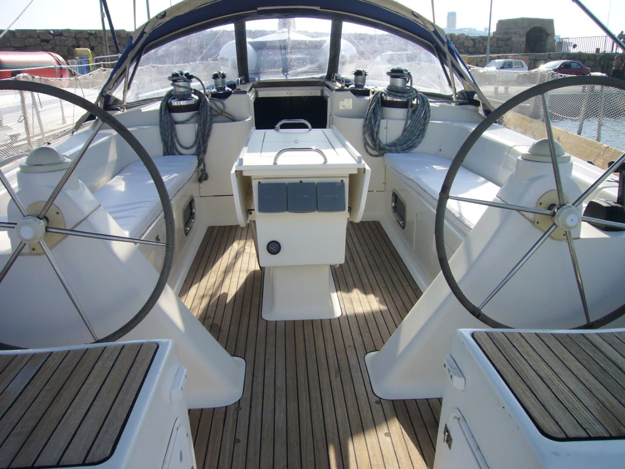 Bavaria 47 / 2000, 15 meters long, (47ft) that can accommodate up to 8 people, sailing trip south chania crete