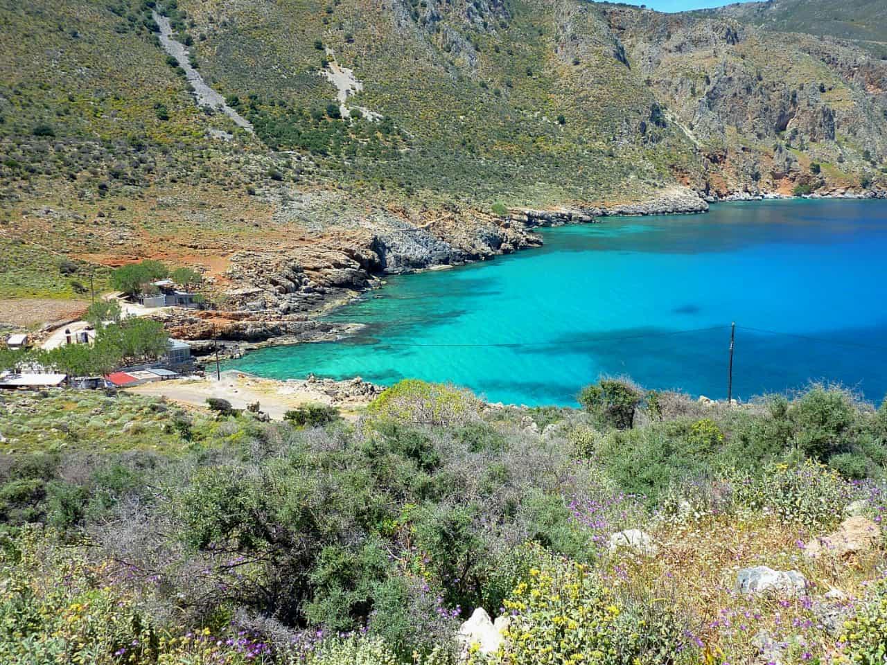 ombrosgialos beach chania, Art Retreats in Gavalochori Village, Chania, Crete, artful retreat chania crete, bleverde villas penelope orfanoudaki artist, best art retreat crete