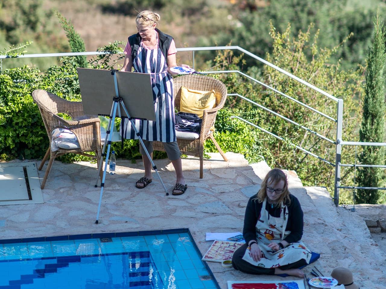 Art Retreats in Gavalochori Village, Chania, Crete, artful retreat chania crete, bleverde villas penelope orfanoudaki artist, best art retreat crete