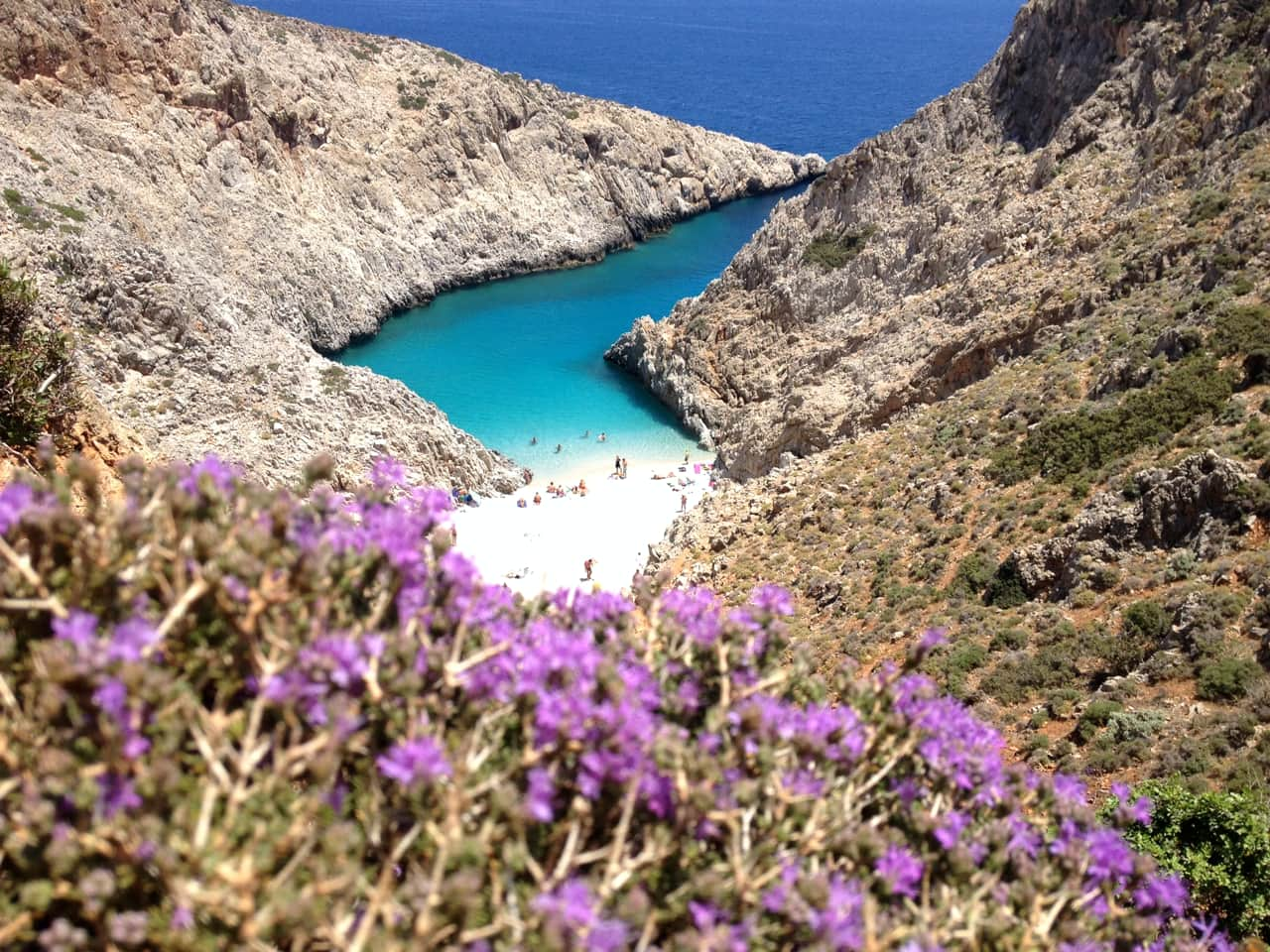 """Private Speedboat 25"""" Charter Souda Bay and Secret Beaches Half or Full Day"""