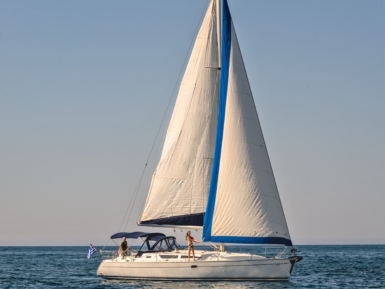 A Day Out Sailing Chania, Short Day Private sailing Tour, sailing chania crete, sailing activities chania, chania activities, best sailing trip chania crete, chania sailing theodorou island, agioi theodoroi island sailing chania, sail fishing summer, sailing in Crete