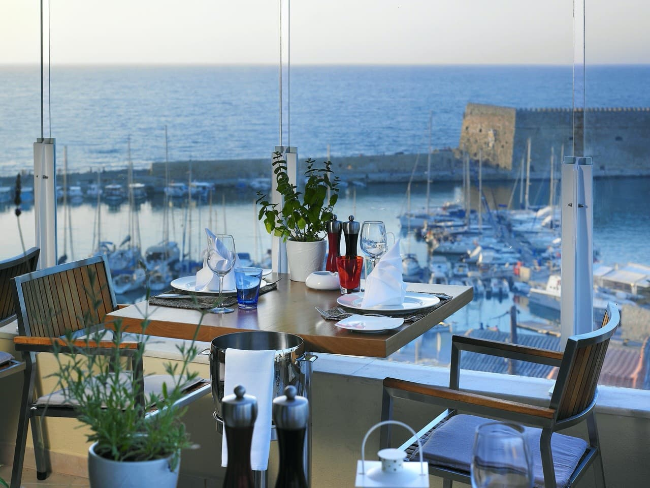 Herbs' Garden Restaurant, Lato Boutique Hotel in Heraklion Crete, herbs restaurant heraklion, best restaurants iraklion crete