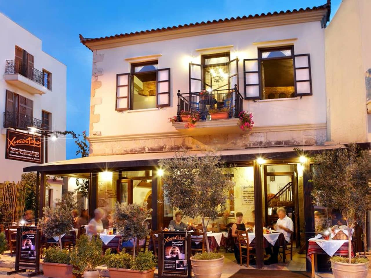 chrisostomos restaurant chania, hrisostomos tavern chania crete, chrisostomos chania crete, best cretan food chania, authentic food chania, gastronomy chania, where to eat chania