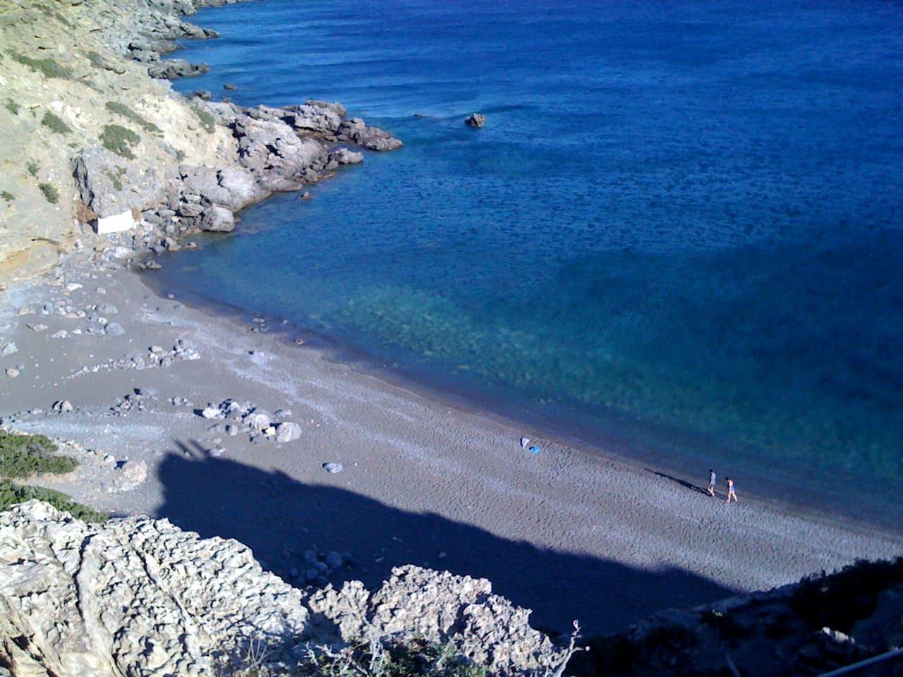 The Agios Antonios beach near Agios Ioannis Village