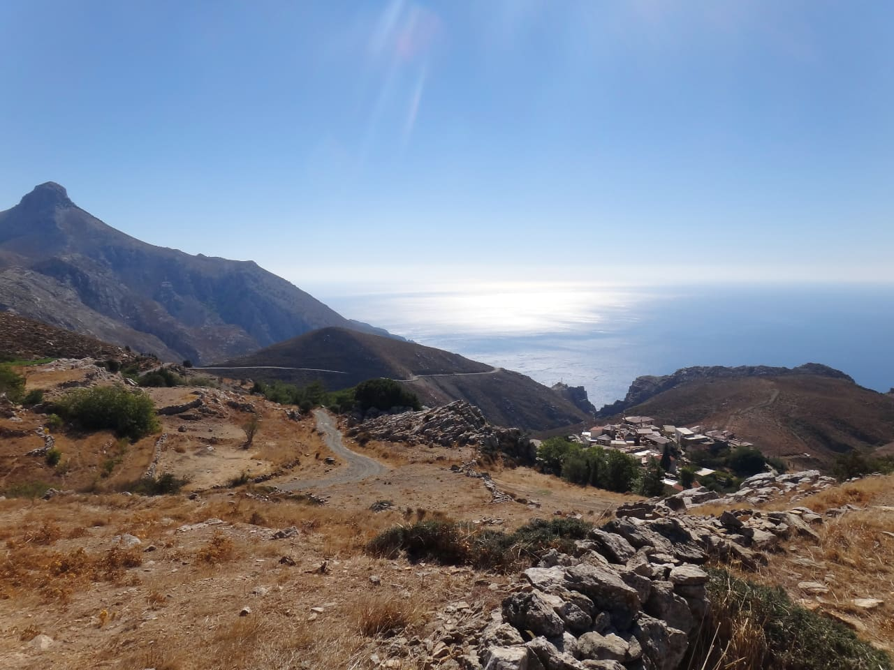 Panoramic view of Kapetaniana Village and Libyan Sea