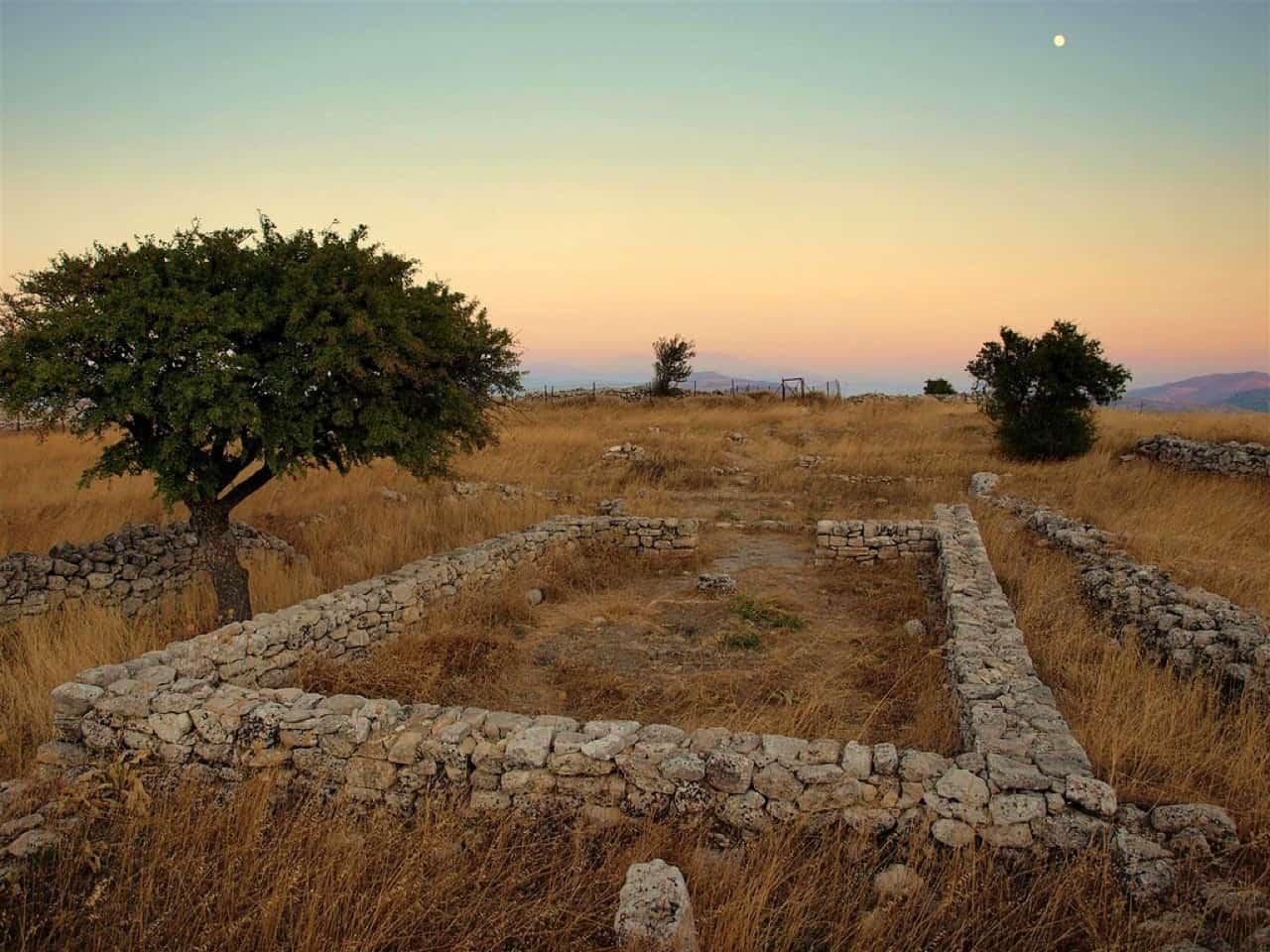ancient rizinia central crete, rizinia site heraklion