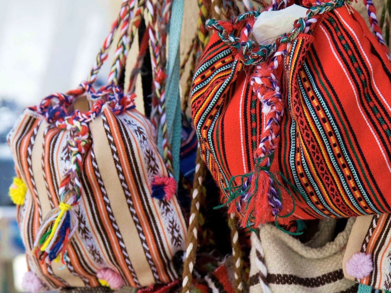 Handicraft bags in Anogia Village, Rethimno, Crete, anogia village travel guide, anogia village things to do, anogia gastronomy, anogia village music