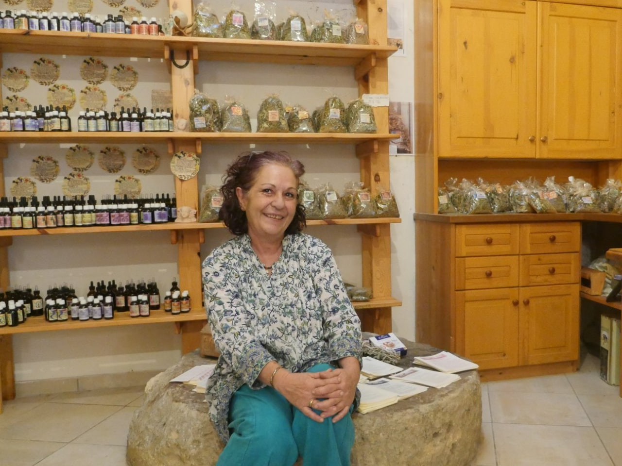 Mariannas Workshop in the centre of Maroulas Village