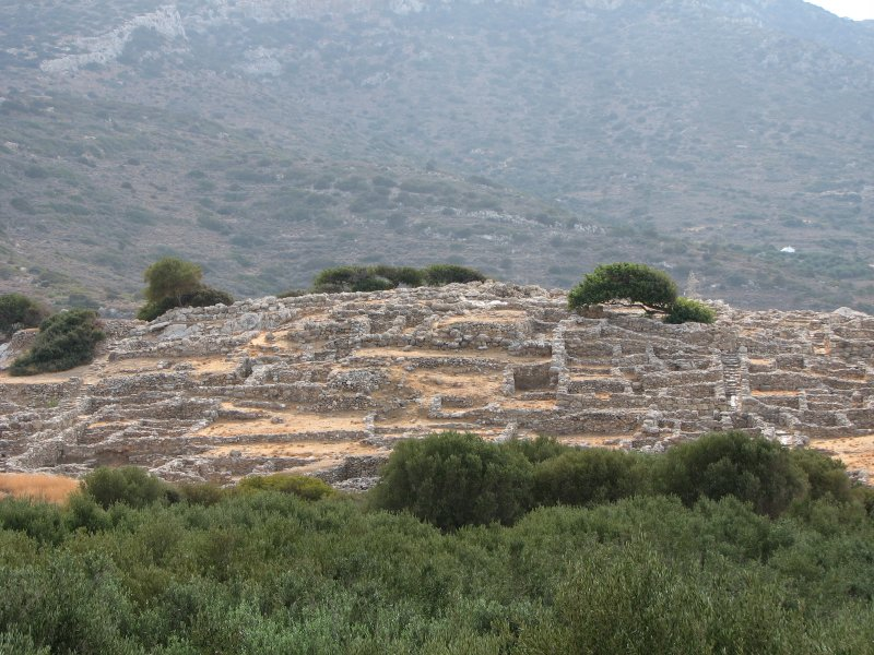 The nearby archaeological site of Gournia