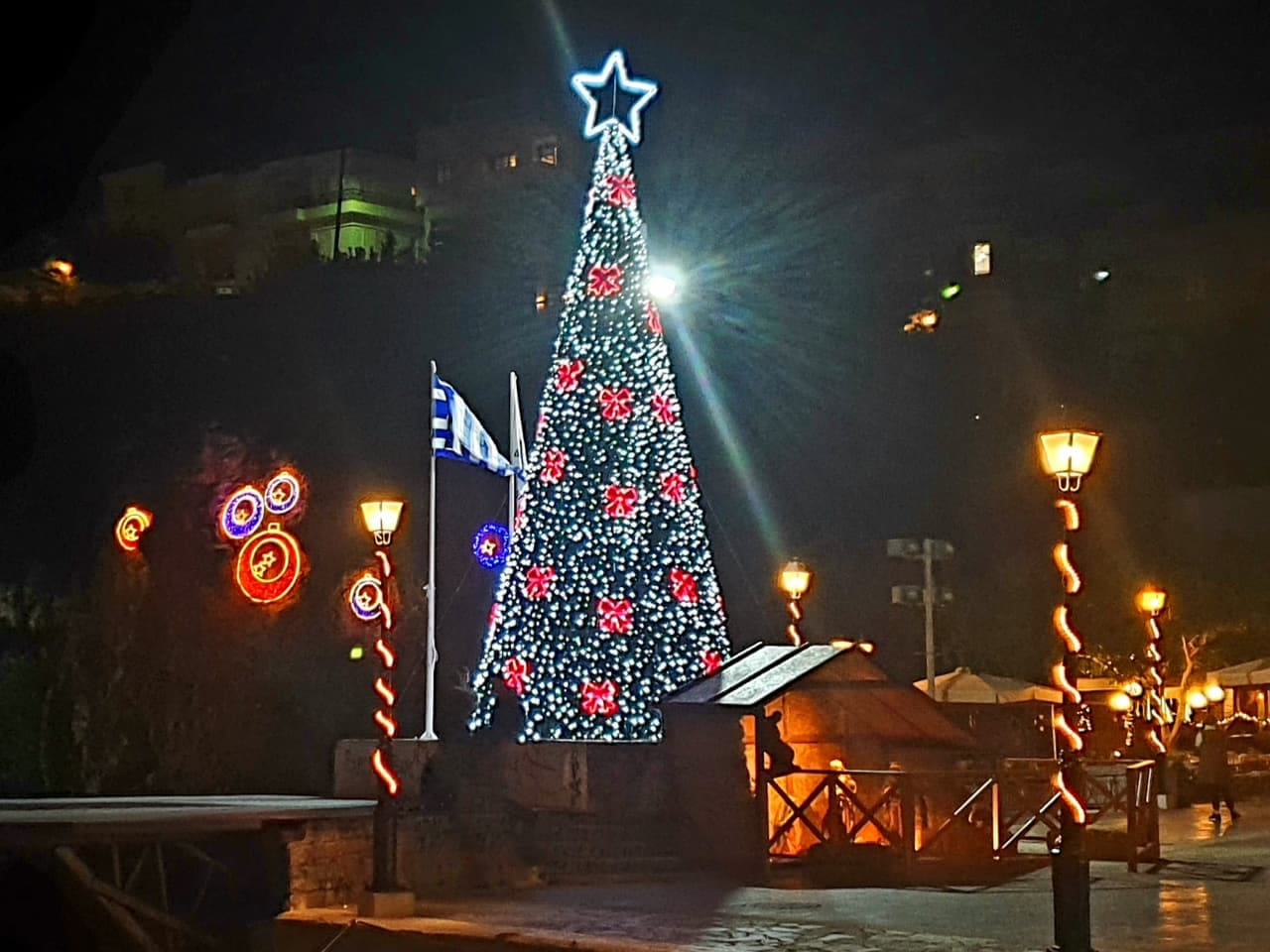Christmas time in Agios Nikolaos Town