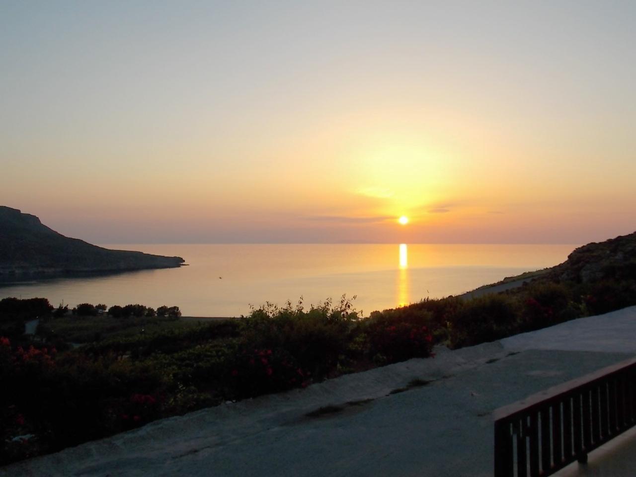 Sunrise at Kato Zakros Village