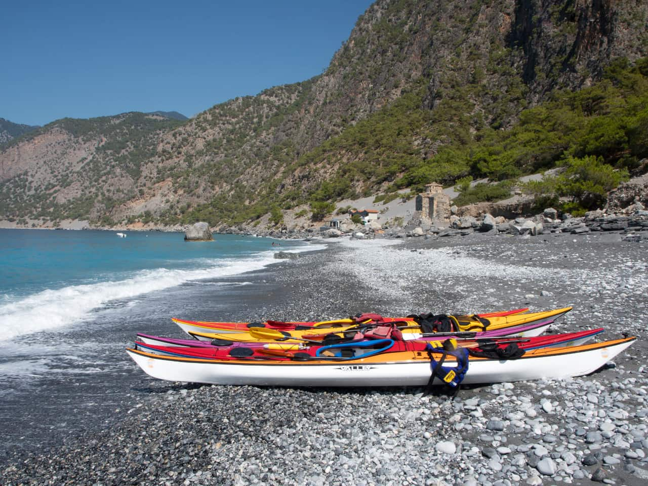 sea kayak loutro sfakia samaria