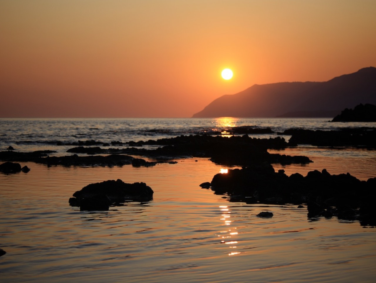 Sunset at Frangokastello