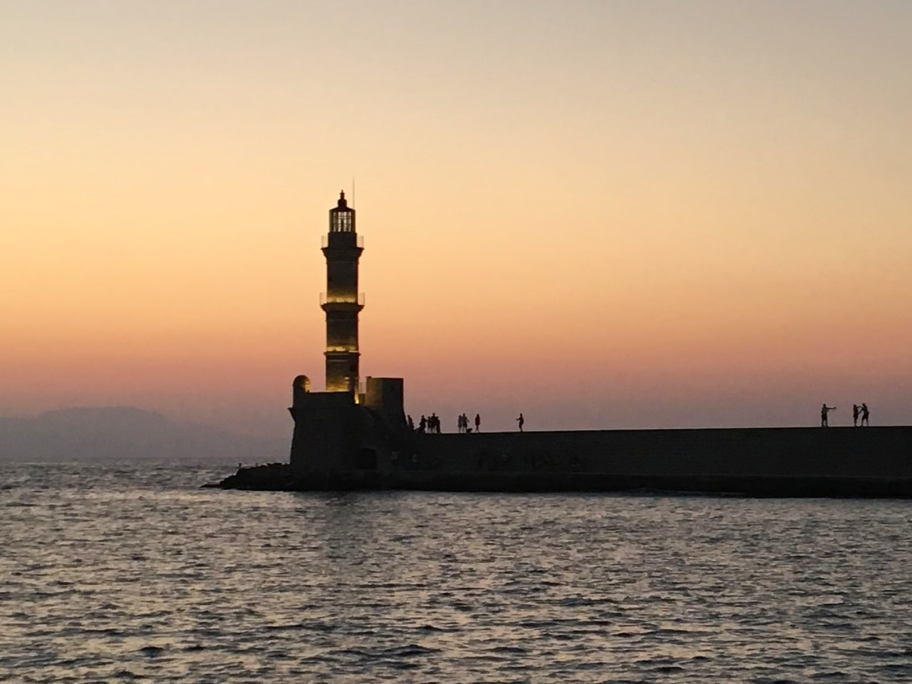 venetian lighthouse of chania, chania town