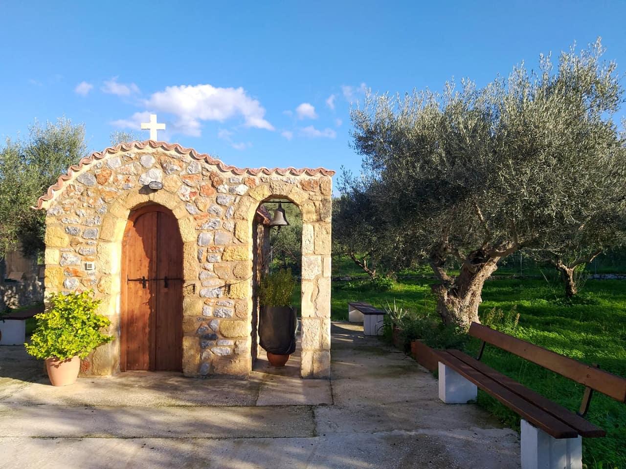 Small church at Kokkino Chorio Village, Chania, Crete