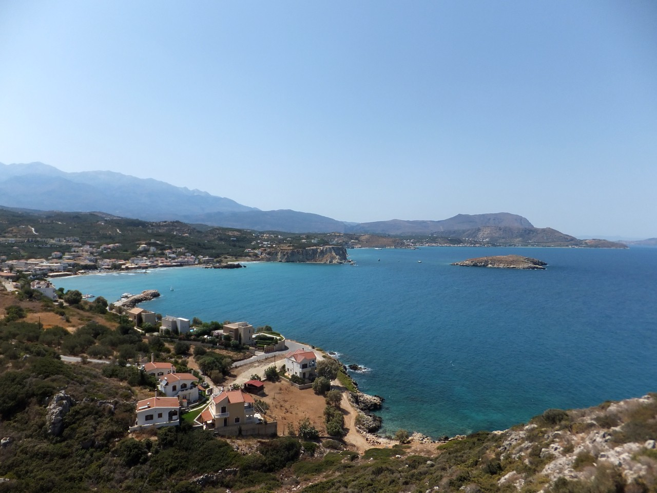 Kokkino Chorio, or Red Village, sits on the Drapano Cape overlooking the magnificent Souda Bay.