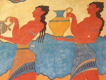 CreteTravel,Central Crete,Minos - The Nine Years King Outside Of Knossos Minoan Palace