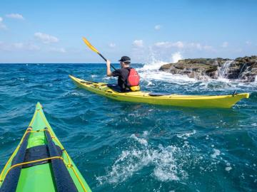 CreteTravel,Central Crete,Sea Kayaking Introduction Course - Level 1 Sea Kayak Course
