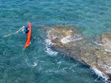 CreteTravel,Central Crete,Sea Kayak Eskimo Roll Course In Crete
