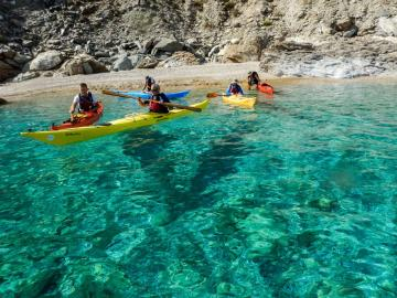 CreteTravel,Central Crete,Sea Kayak Activity Agia Pelagia - Ligaria
