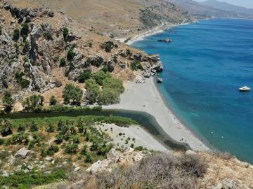 CreteTravel,South Crete,River Trek - Palm Forest Of Preveli - South Rethimno