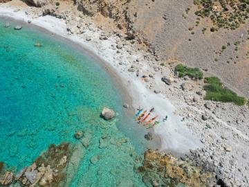 CreteTravel,South Crete,7 Days Sea Kayak Trip Western Crete