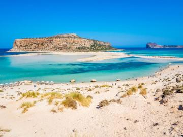 "CreteTravel,West Crete,Private Speedboat 42"" Charter to Balos Lagoon and Gramvousa Island"